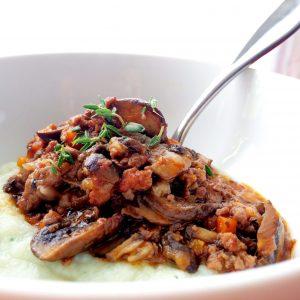 Mushroom & Turkey Bourguignon
