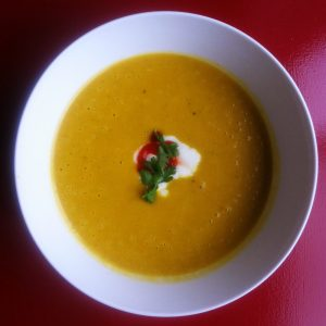 Indian Spiced Butternut Squash Soup